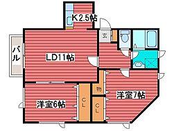 ハビタブル[3階]の間取り