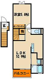 ポレール伊川III[2階]の間取り