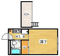 エルメゾン藤阪[2階]の間取り