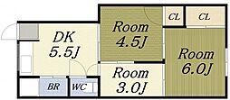 山戸マンション[2階]の間取り