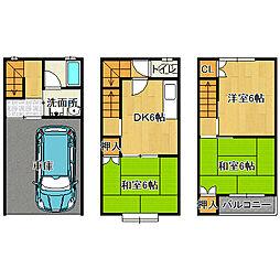 [一戸建] 大阪府守口市八雲北町1丁目 の賃貸【大阪府 / 守口市】の間取り