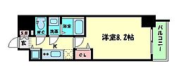 Osaka Metro御堂筋線 本町駅 徒歩3分の賃貸マンション 14階1Kの間取り