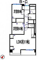 兵庫県姫路市網干区北新在家の賃貸マンションの間取り