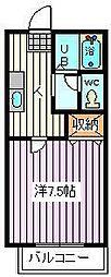 埼玉県さいたま市南区根岸4丁目の賃貸アパートの間取り