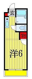 千葉県船橋市中野木1丁目の賃貸アパートの間取り