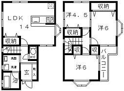 [一戸建] 大阪府羽曳野市島泉9丁目 の賃貸【/】の間取り