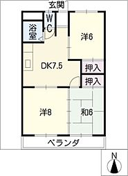 プラムコート[2階]の間取り
