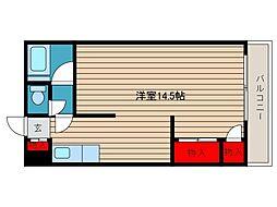 板橋マンション[105号室]の間取り