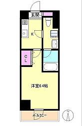 東京都八王子市三崎町の賃貸マンションの間取り