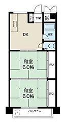 第2マンション北[3階]の間取り