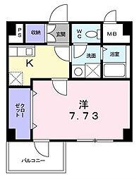 T&A横浜白金[5階]の間取り