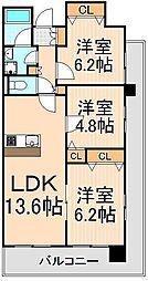 RIK西新井[1101号室]の間取り