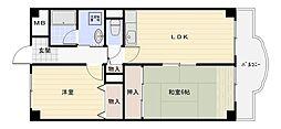 ドミソレイユ[5階]の間取り