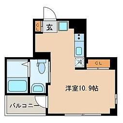 東京都墨田区亀沢4丁目の賃貸マンションの間取り