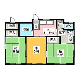 [一戸建] 茨城県水戸市元吉田町 の賃貸【/】の間取り