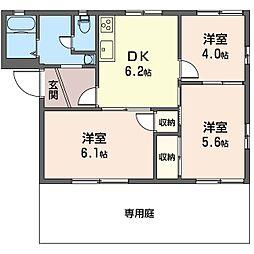 ライフタウニーA街区 3号棟[1階]の間取り