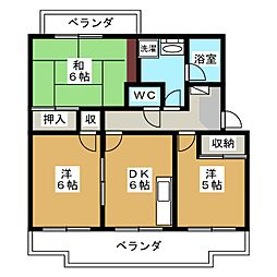 静岡県静岡市葵区竜南3丁目の賃貸マンションの間取り