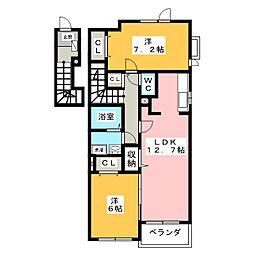 アニメート伊賀[2階]の間取り