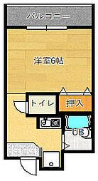 グランヴェール深澤[105号室]の間取り