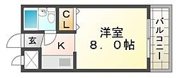 JPアパートメント尼崎Ⅱ[2階]の間取り