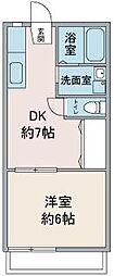 サンハイム鶴ヶ島[1階]の間取り