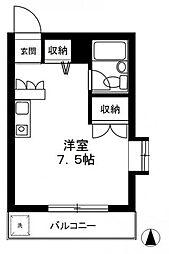東京都江東区森下1丁目の賃貸マンションの間取り
