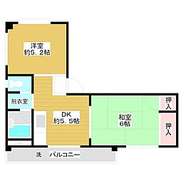 タカラコーポ[3階]の間取り