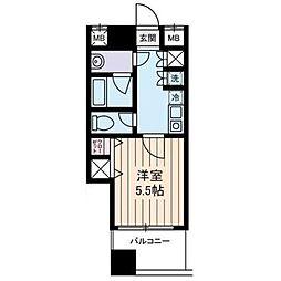 西川ビル[802号室]の間取り