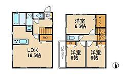 [一戸建] 千葉県松戸市樋野口 の賃貸【/】の間取り