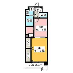 レジデンス18[7階]の間取り