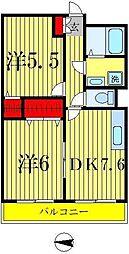 ニコーガーデンコート[3階]の間取り
