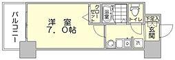エステムコート博多駅前2セグティス[7階]の間取り