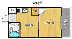 プリエールファミリー住之江御崎[8階]の間取り