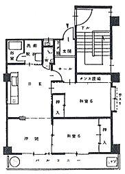 パークサイド城北[2階]の間取り