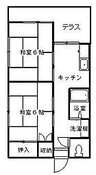 湘風荘[2階]の間取り