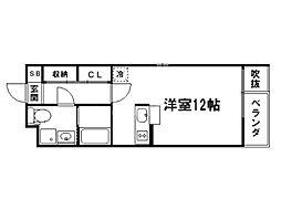 グランコスモ御所[3階]の間取り