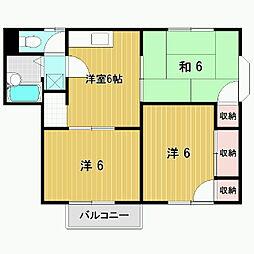 モモセハイツB[1階]の間取り