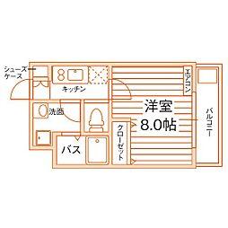 学生会館GROW STAGE 名古屋[4階]の間取り