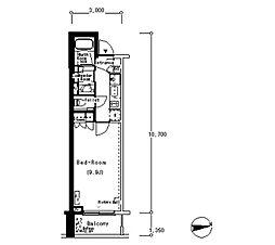 ルフォンプログレ南麻布[5階]の間取り