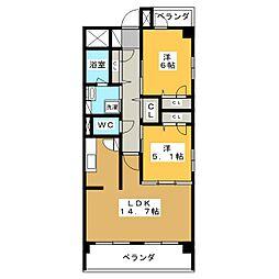 ルアン猫洞[2階]の間取り