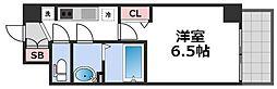 ララプレイス天王寺シエロ 10階1Kの間取り