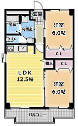 リーフスタイル 古川橋[6階]の間取り