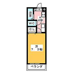 ウインズ原[6階]の間取り