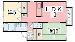 ディアス小松[201号室]の間取り
