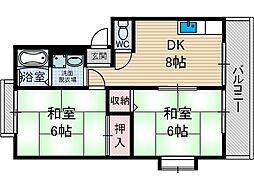 東稲葉ハイツ[1階]の間取り