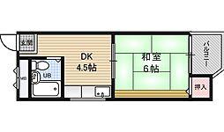 ミカドマンション[4階]の間取り