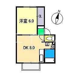 すばる針木 A棟[2階]の間取り