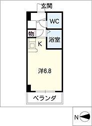 ドール塩釜口[4階]の間取り