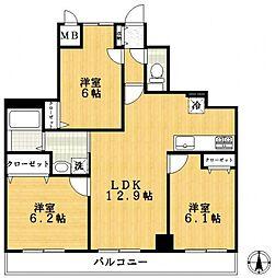 クレ・エスポワール[9階]の間取り