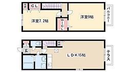 [テラスハウス] 愛知県名古屋市守山区鼓が丘2丁目 の賃貸【/】の間取り